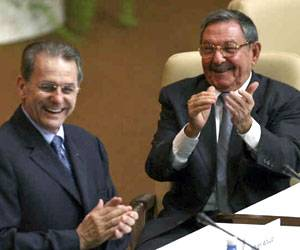 Raul Castro se entrevistó con Presidente del COI